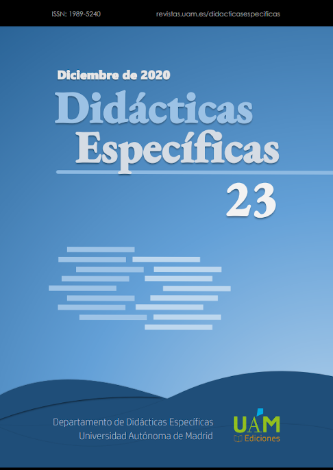 Portada del Número 23 de Didácticas Específicas
