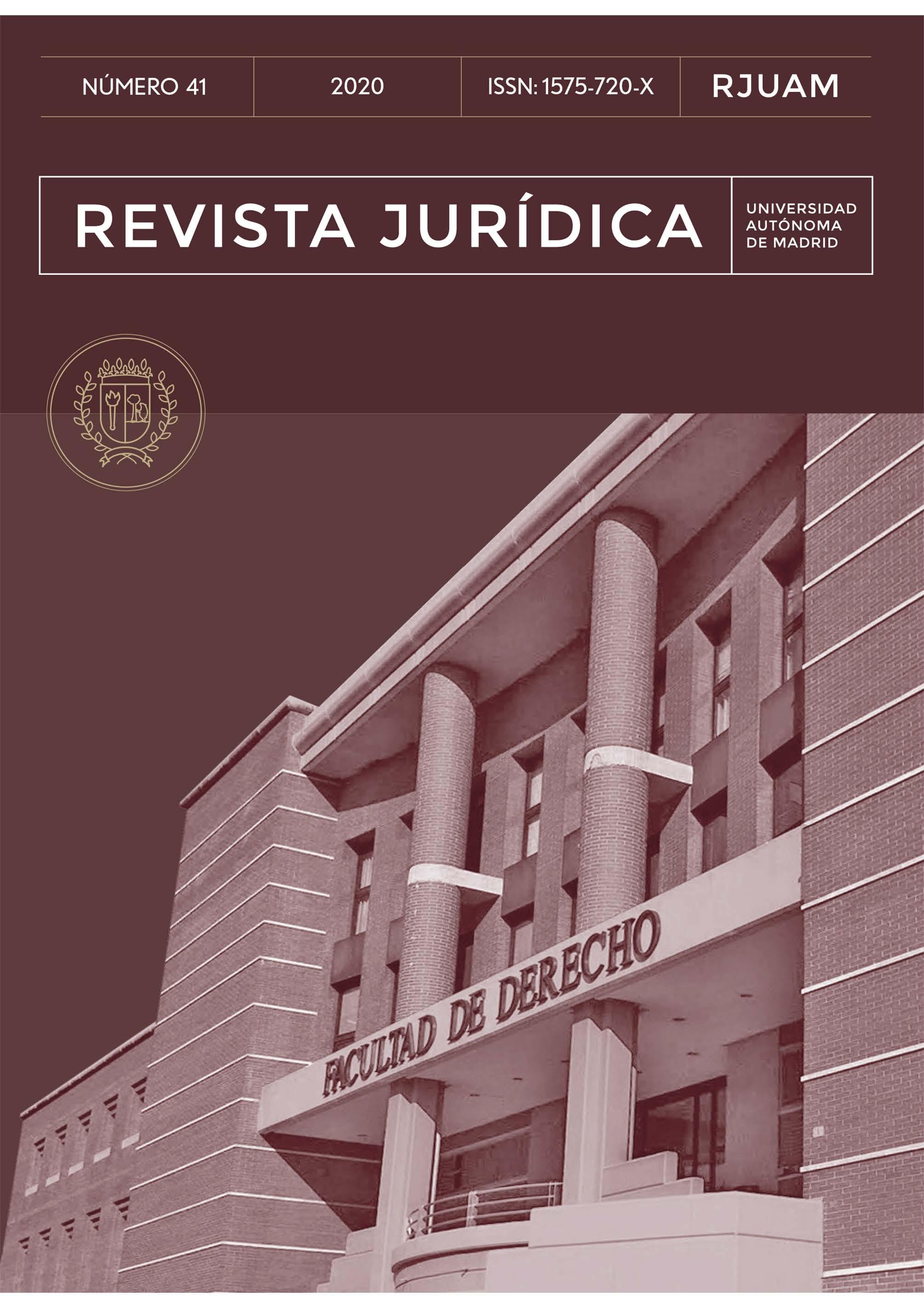 Portada del número 41 de la Revista Jurídica de la Universidad Autónoma de Madrid