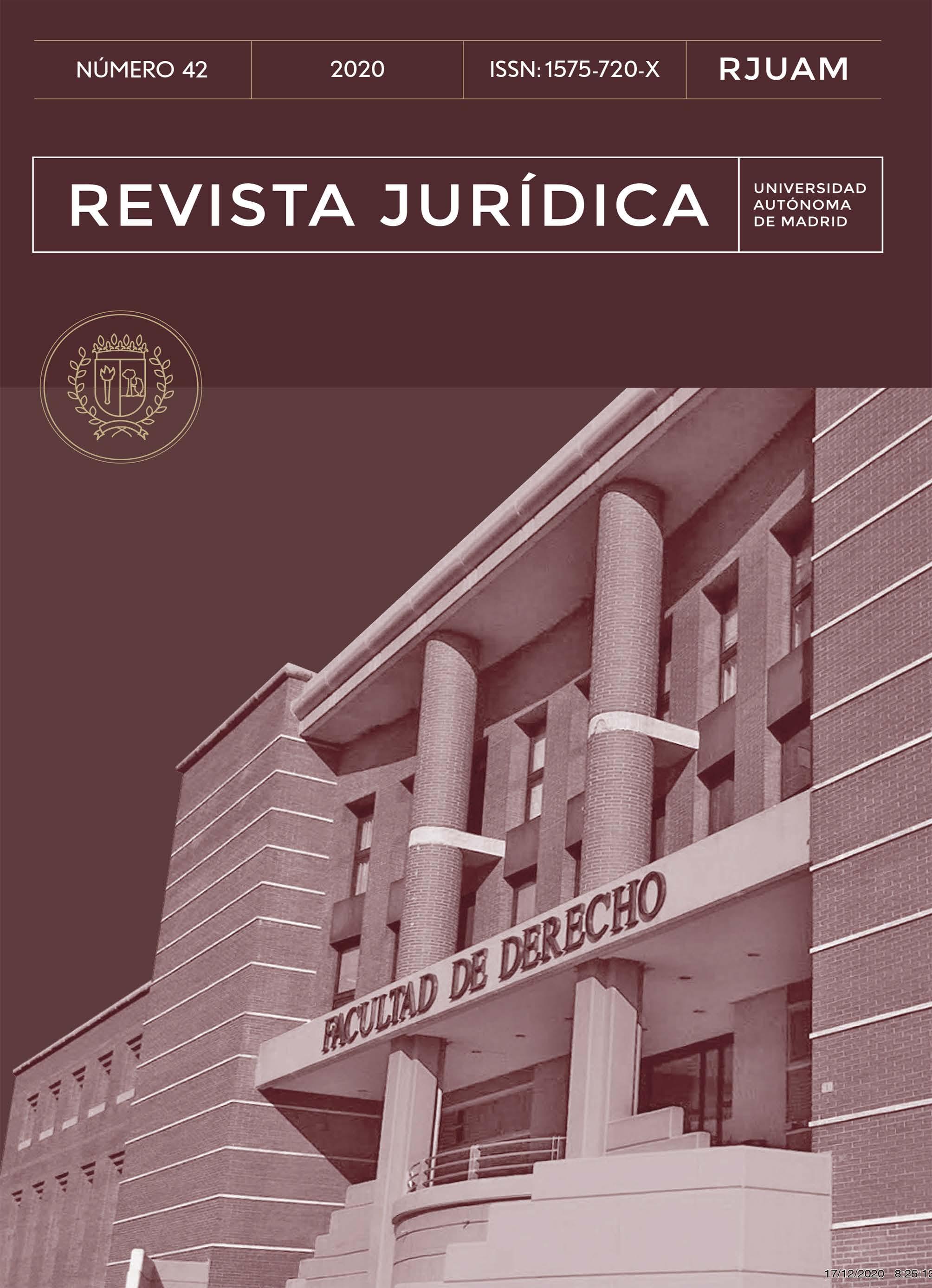 Portada del número 42 de la Revista Jurídica de la Universidad Autónoma de Madrid