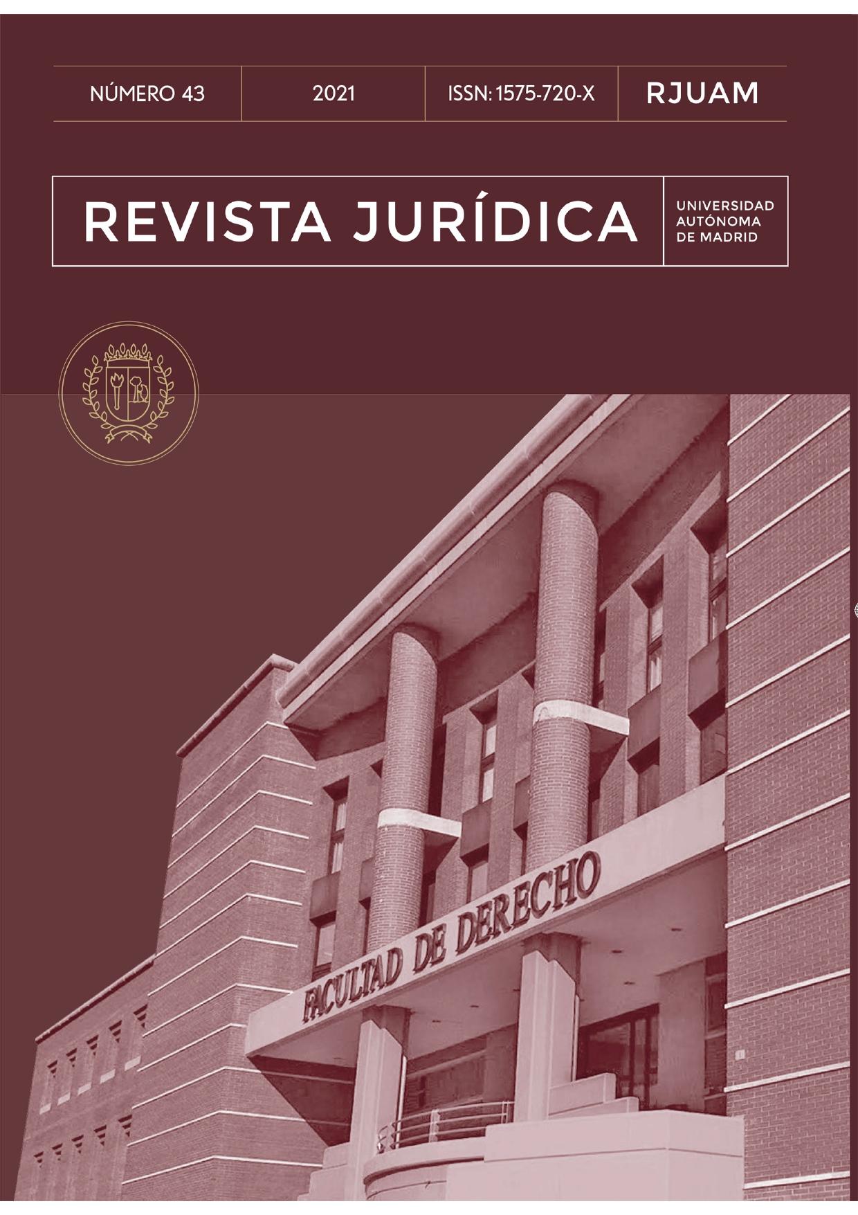 Portada del número 43 de la Revista Jurídica de la Universidad Aut´ónoma