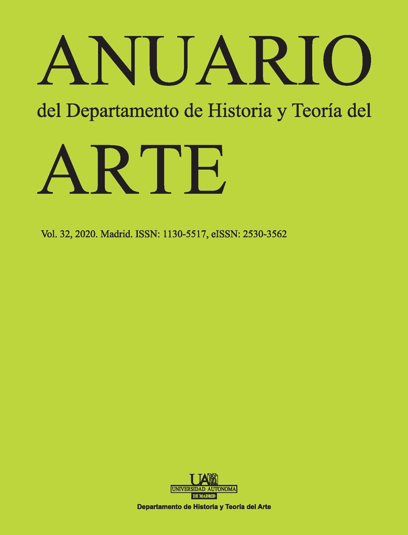 Portada del Volumen 32 del Anuario del Departamento de Historia y Teoría del Arte