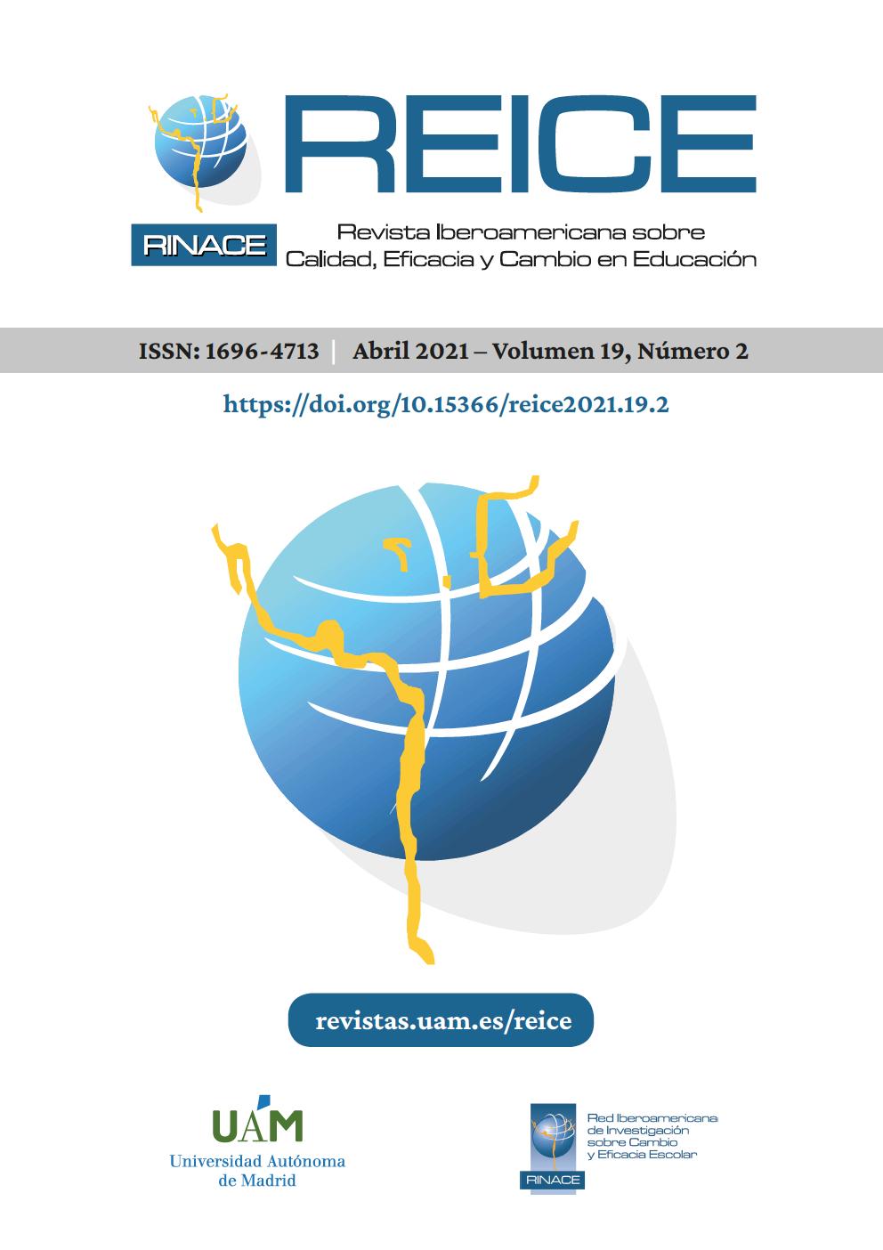 Portada del volumen 19, número 2 de la Revista Iberoamericana de Calidad, Eficacia y Cambio en Educación