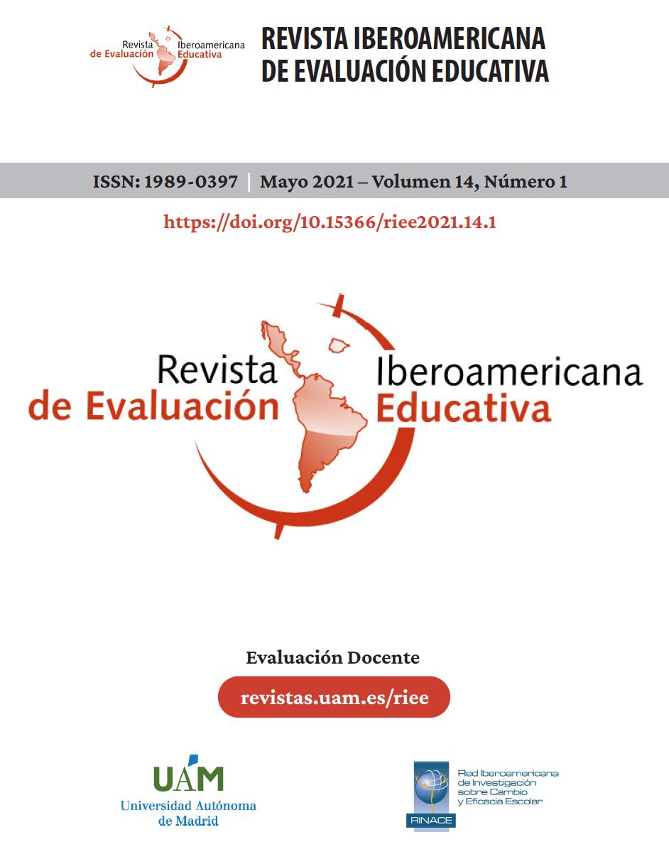 Portada del volumen 14, número 1, de la revista iberoamericana de evaluación educativa