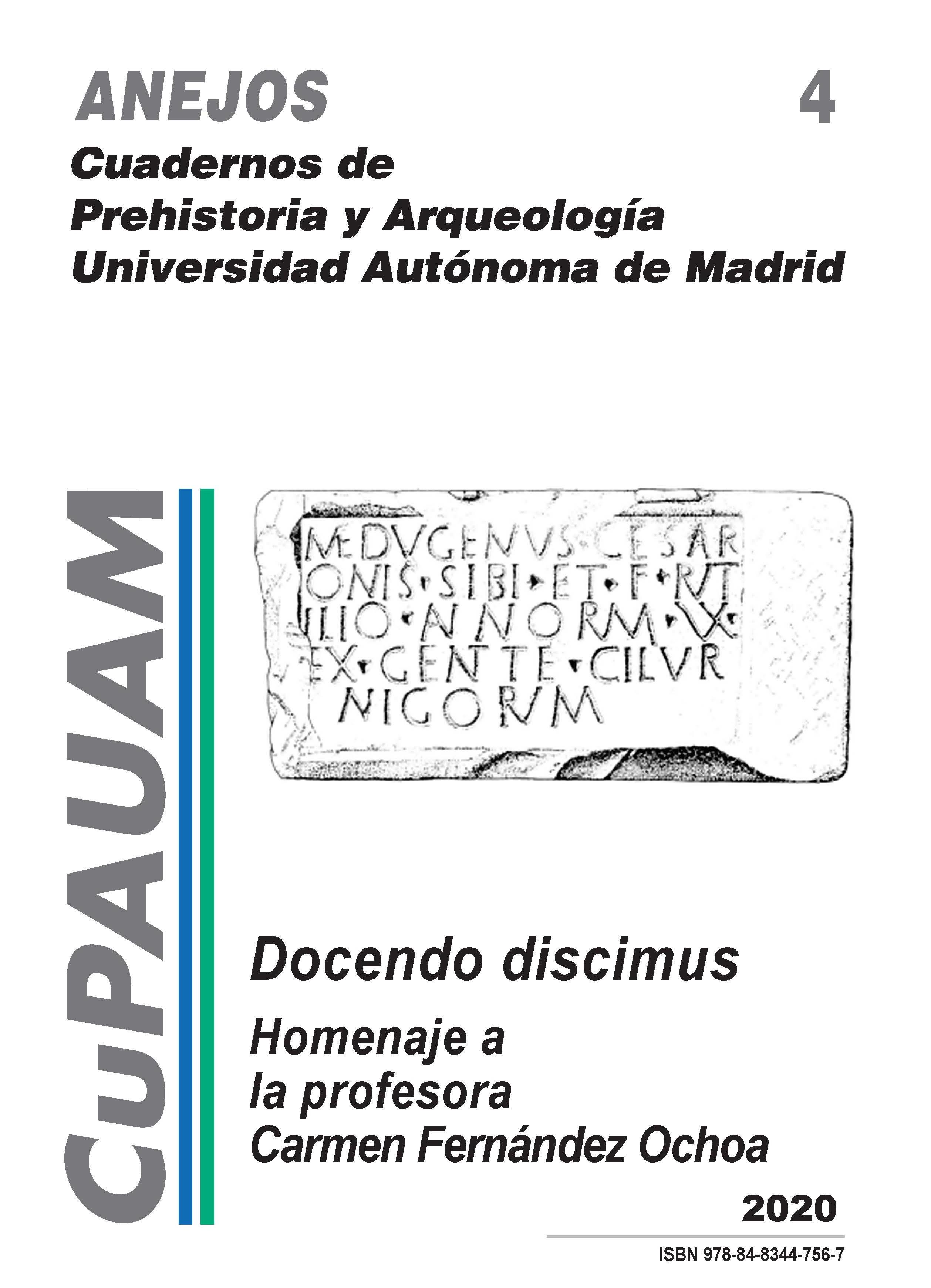 Portada de Anejos de Cuadernos de Prehistoria y Arqueología de la Universidad Autónoma de Madrid