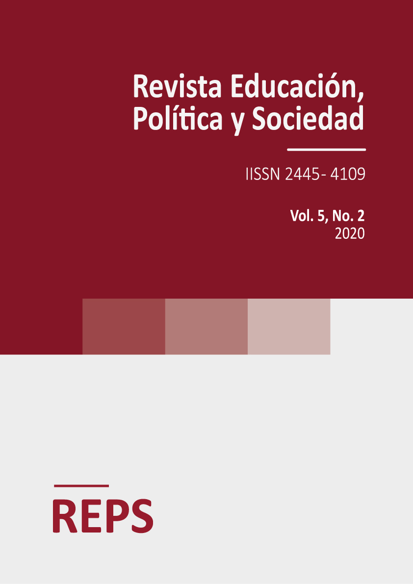 Portada del volumen 5 número 2 de la Revista de Educación, Política y Sociedad