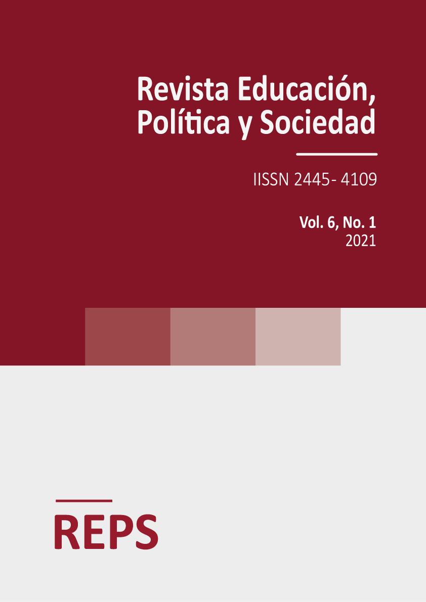 Portada del volumen 6 número 1 de la Revista de Educación, Política y Sociedad