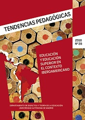 Cover of Tendencias Pedagógicas volume 28